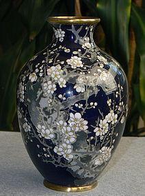 Jananese Cloisonne Vase- Goto