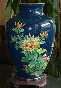 Large Japanese Cloisonne Enamel vase
