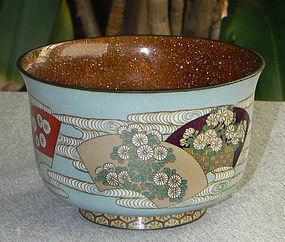 Japanese Cloisonne Enamel Bowl - Kumeno