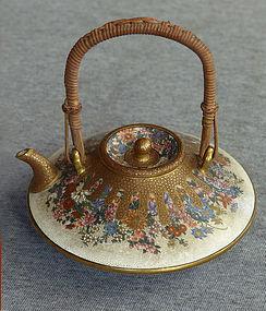 Japanese Satsuma Sake Pot - Kinkozan Sozan