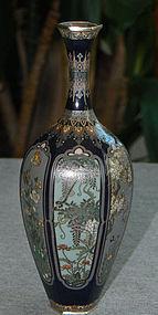 Japanese Cloisonne Enamel Vase Ota Kichisaburo