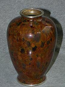 Very Rare Japanese Cloisonne Enamel Vase