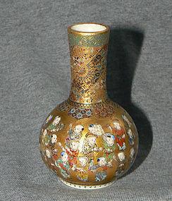 Exquistite Japanese Satsuma Cabinet Vase