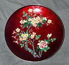 Uncommon Japanese Cloisonne Enamel Plate or Dish