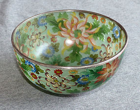 Early Japanese Cloisonne Enamel Bowl - Plique a jour