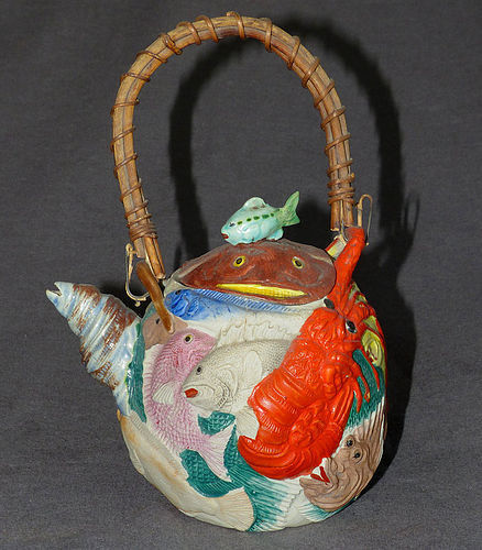 Rare Japanese Banko Sea Creature Teapot