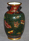 Excellent Japanese Cloisonne Enamel Vase in the style of Namikawa
