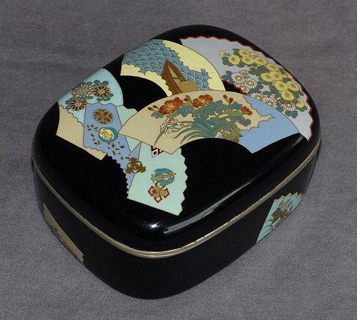 Outstanding Rare Japanese Cloisonne Enamel Box - Kumeno??????