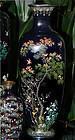 Large Japanese Cloisonne Enamel Vase - Signed Hayashi