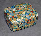 Excellent Japanese Cloisonne Enamel Box Covered with Flowers