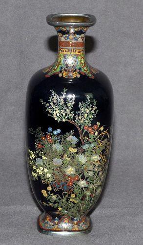 Spectacular Small Japanese Cloisonne Enamel Vase - Hayashi?