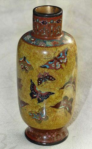 Fine Japanese Cloisone Enamel Cabinet Vase - Honda