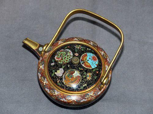 Fine Japanese Cloisonne Enamel Teapot - Namikawa Style