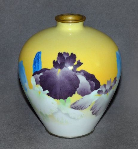 Fabulous Rare Cloisonne Enamel  Vase from Gonda but signed Ando