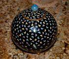Excellent Japanese Cloisonne Enamel Koro or Tea Jar - Tiny Butterflies