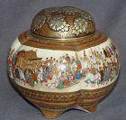 Outstanding Japanese Satsuma Koro or Jar- Signed Sozan