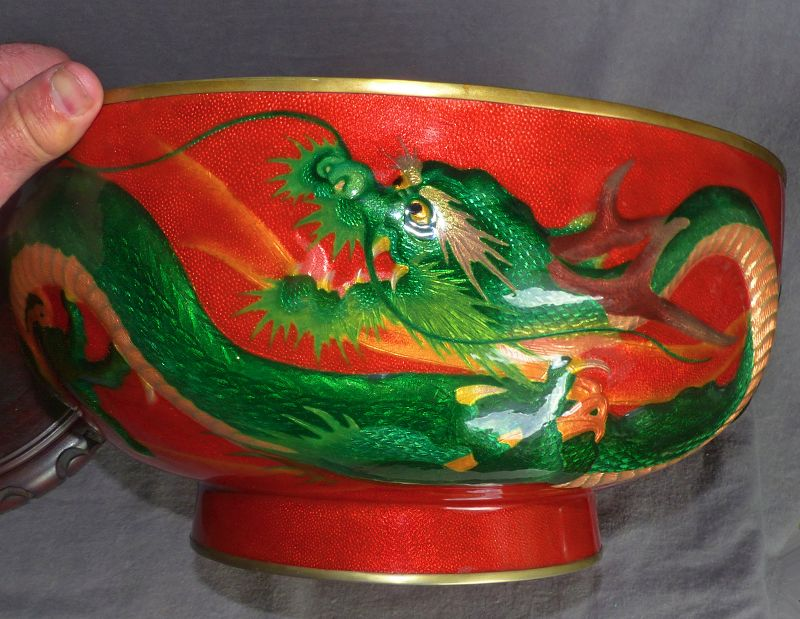 Amazing Japanese Cloisonne Enamel Bowl from Ogasawara Shuzo
