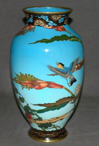 Excellent Early Japanese Cloisonne Enamel Vase - possibly a Sosuke