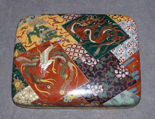 Excellent Rare Japanese Cloisonne Enamel Box - Probably Honda