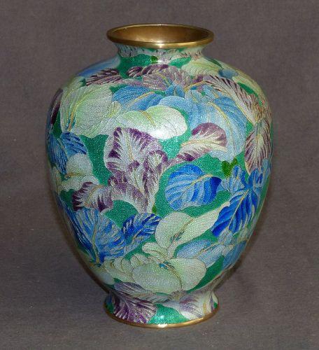 Beautiful Rare Japanese Cloisonne Enamel Vase- Unsigned Hattori