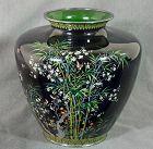Rare Japanese Cloisonne Vase from Hayashi or Ando