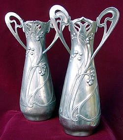 Elegant Art Nouveau vases.