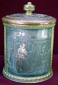 Tobacco jar with lid