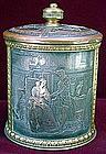 Tobacco jar with lid