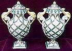 French Sevres Porcelain Amphoras