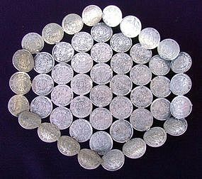 Vintage Tray with Guatemalan Coins