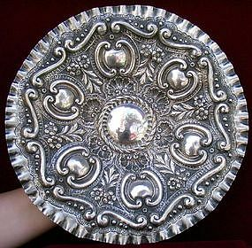 Italian Silver Repousse Wall Plate