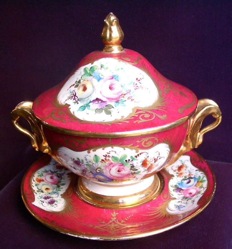 French Porcelain Marmalade Dish Set