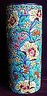 French Enameled Ceramic Vase