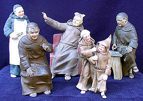 FOR COLLECTOR'S: Wonderful Porcelain Monks