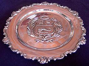 Peruvian Sterling Silver Wall Plate