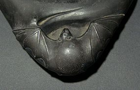 Peach-shaped Ink Stone with Bat