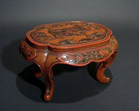 Lacquer Stand with Foo Dogs