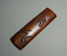 Chinese Scholar art Wood Carving Wrist Rest