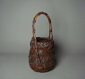 Japanese Bamboo Basket by Maeda Chikubosai I