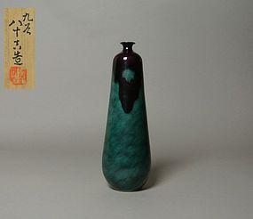 Japanese Kutani Vase by Tokuda Yasokichi