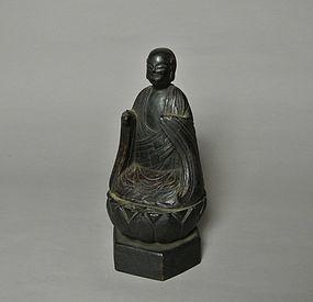 Japanese Wood Statue Jizo Bosatsu