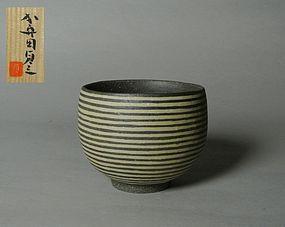 Japanese Yakishime Inlay Chawan