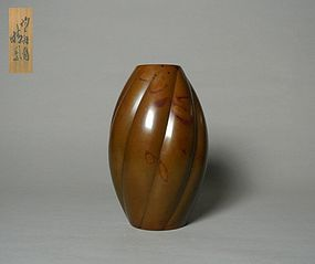 Japanese Bronze Vase by Yashima Boshu