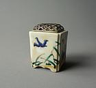 Japanese Iroe Porcelain Koro