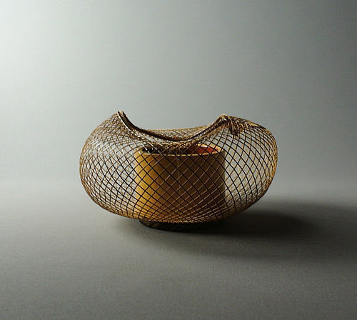 Unsigned Japanese Flower Basket