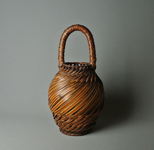 Japanese Mingei Flower Basket