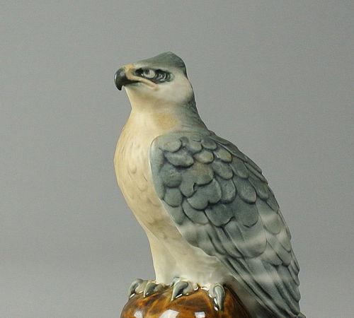 Japanese Ceramic Hawk by Hayashi Mokuu