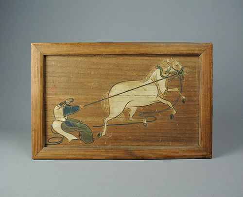 Japanese Ema, Votive Picture Tablet of a Horse