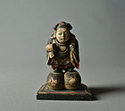 Japanese Wood-carving Statue Daikoku