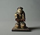 Japanese Wood-carving Statue Daikoku